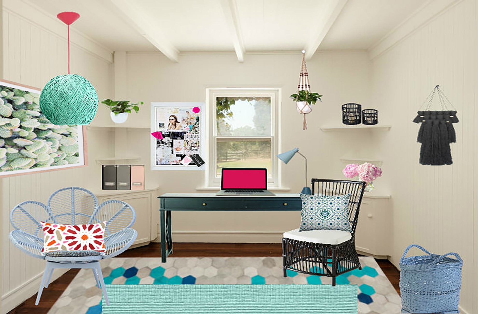 Boho Office Shop The Look For A Boho Office Design That Will