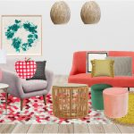 Modern living room ideas - fruit salad style board