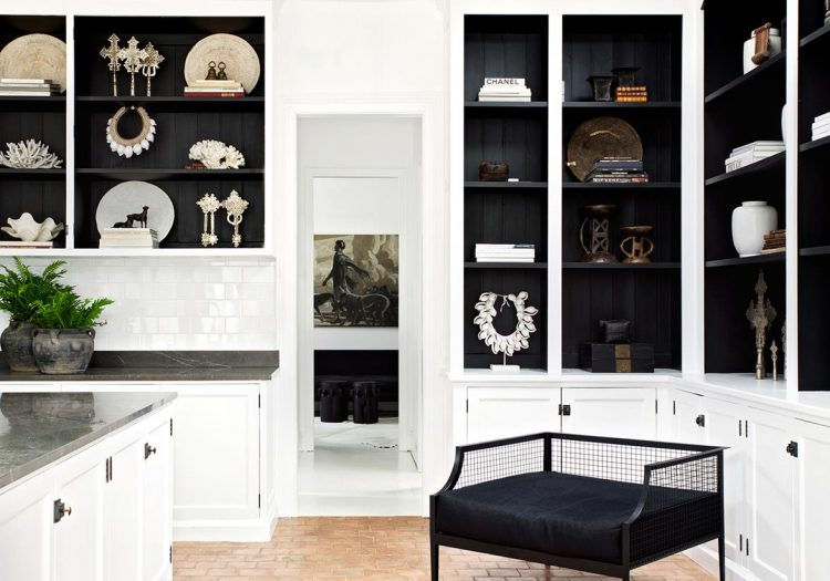 monochrome tribal interior design