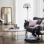 French interior design - Parisian living room with grey and pink