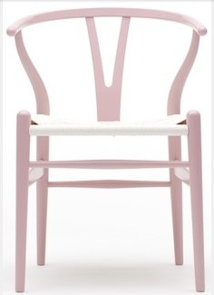 Wegner Wishbone armchair in blush pink colour