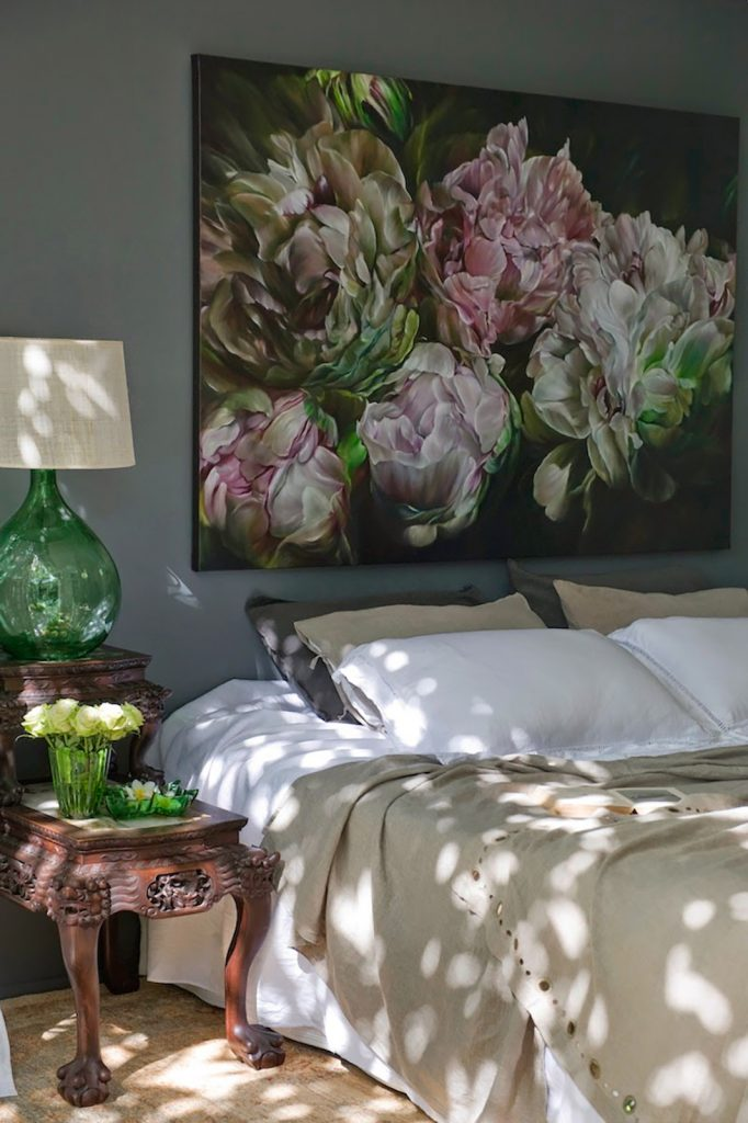 flowers artwork bedroom boudoir