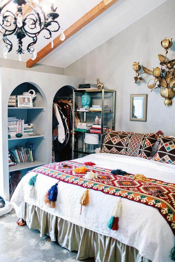 boho master bedroom design