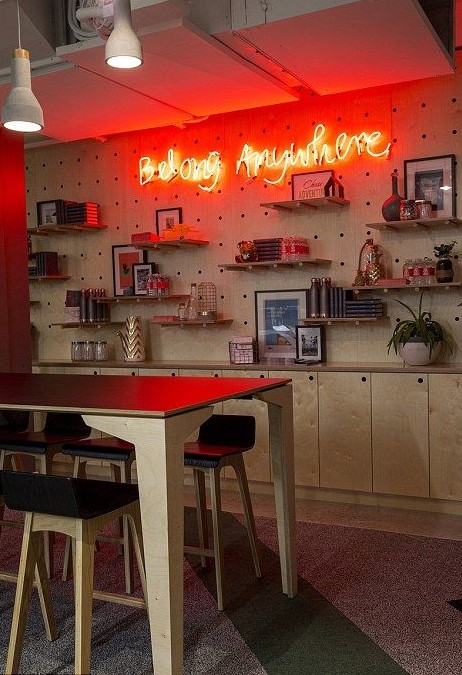 AIRBNB neon sign on wall