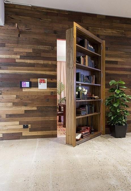 Airbnb hidden bookcase door
