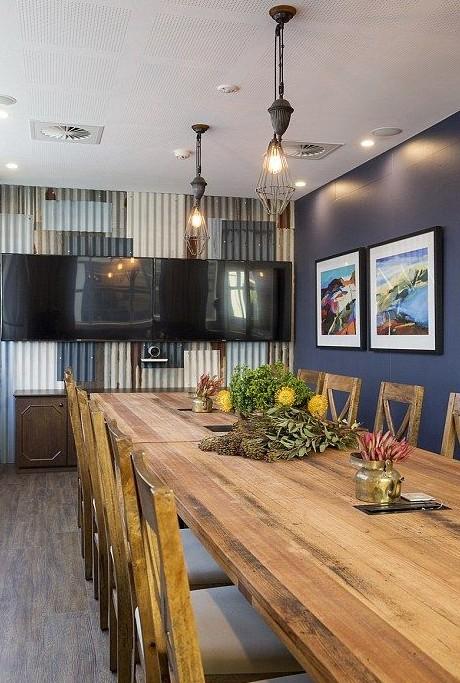 airbnb rustic meeting room
