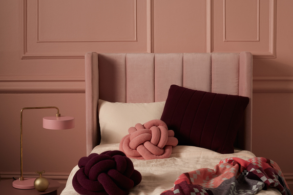 Incy Interiors pink and velvet bedroom