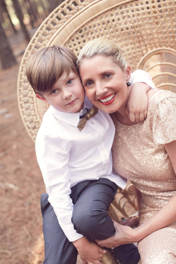 Kristy Withers and son