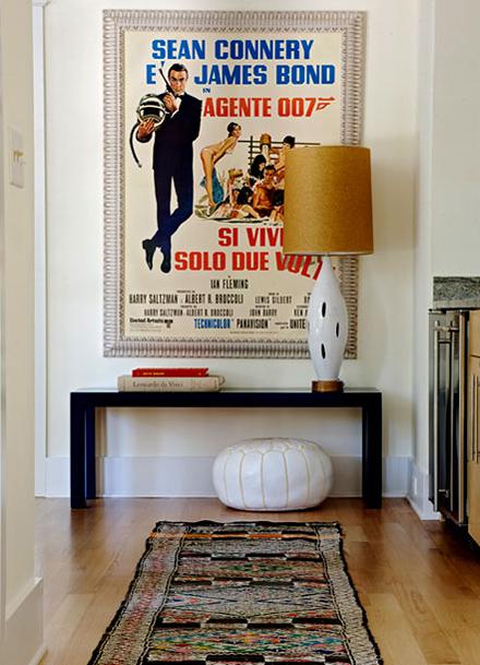 James Bond wall print hallway wall