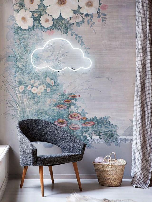 neon cloud wall hanging