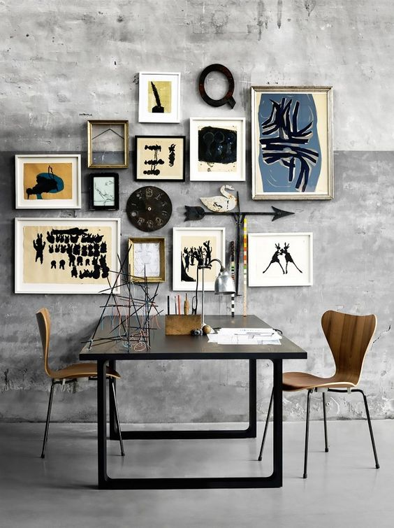 eclectic home gallery wall