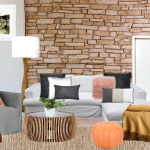 Home interior styles - muted living space board