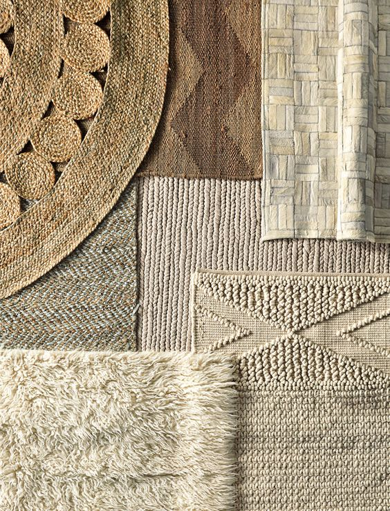 layered rugs natural