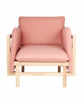 Pink Chair- Forest Pink & Green Living