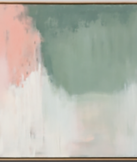 Abstract Art - Forest Pink & Green Living