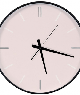 Clock- Forest Green & Pink Living