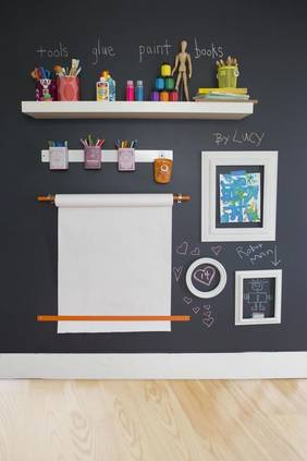 Kid's bedroom ideas chalk wall