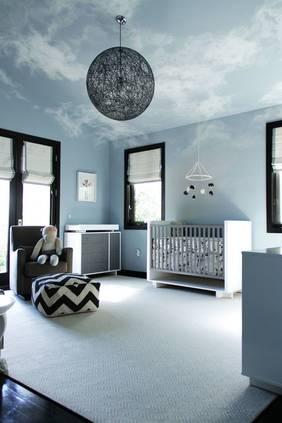 Kid's bedroom cloud ceiling