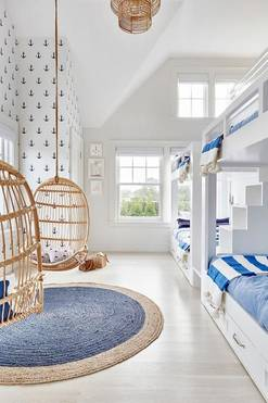 blue white boys room