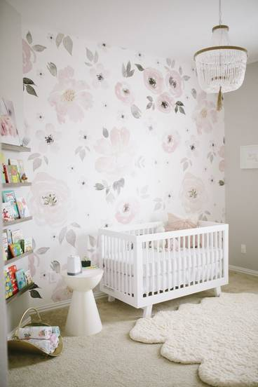 girl nursery floral wall decor