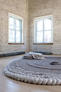 grazed felt rug