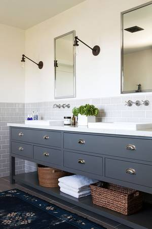 home renovation ideas grey bathroom cupboards