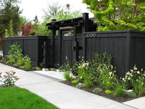 home renovation ideas black fence