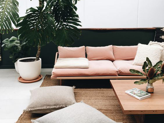 pink interior decorating ideas pink couch