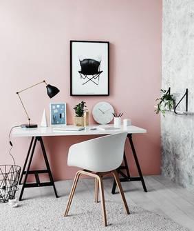 Pink study wall