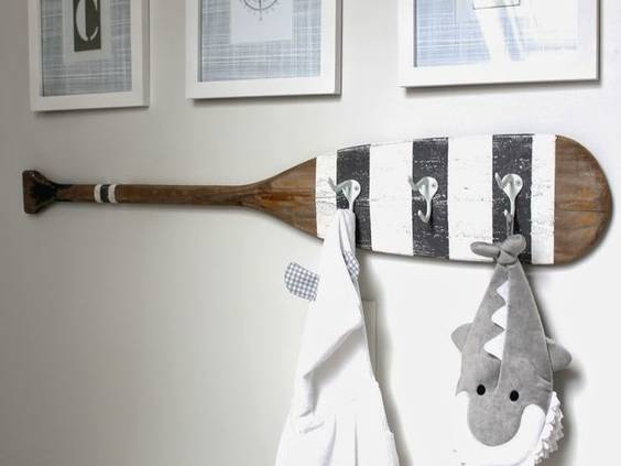 coastal oar wall hanging
