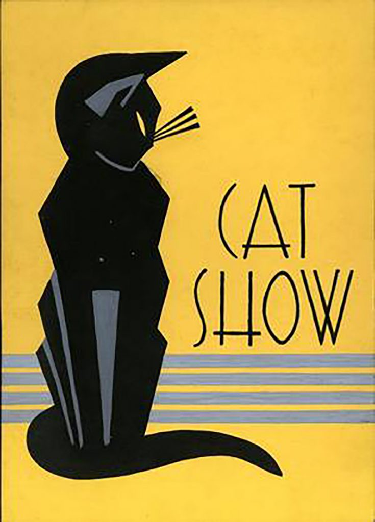 art deco cat show
