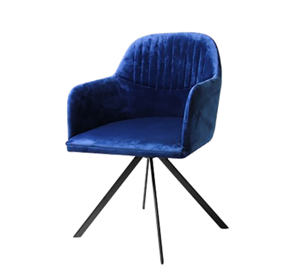 art deco blue chair