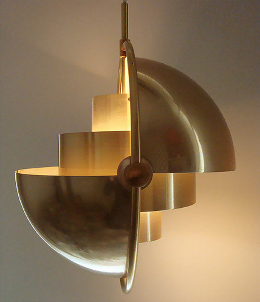 art deco gold light
