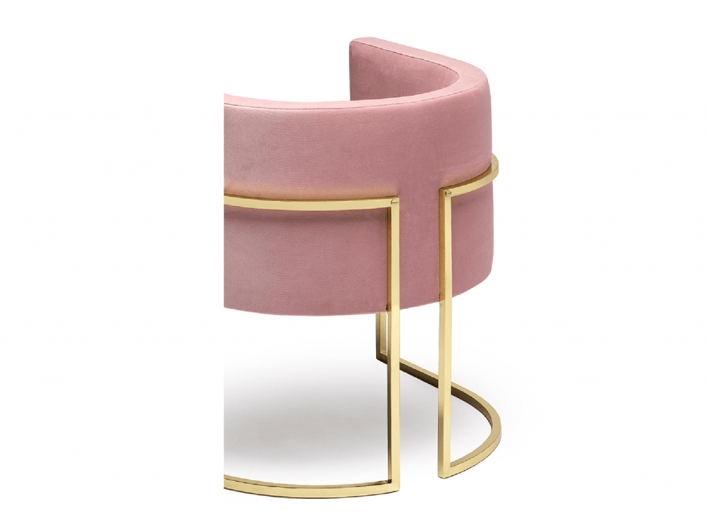 art deco pink chair