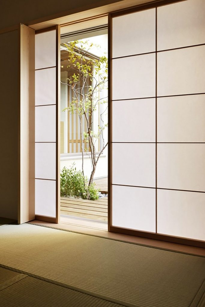 japandi tatami floors and screens
