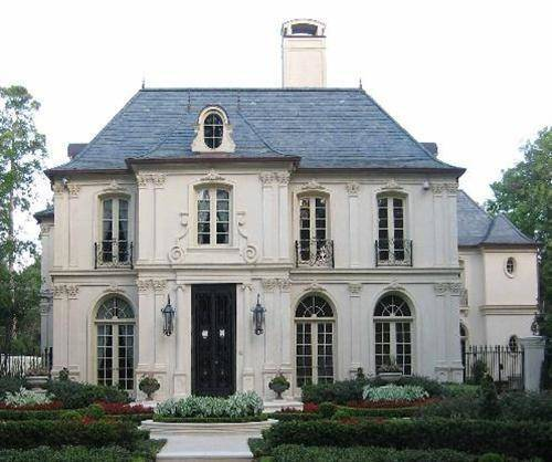 French accent style house exterior