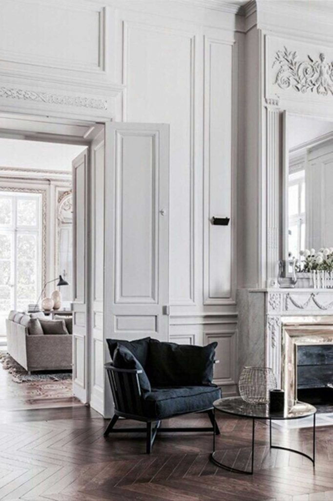 French accent style walls