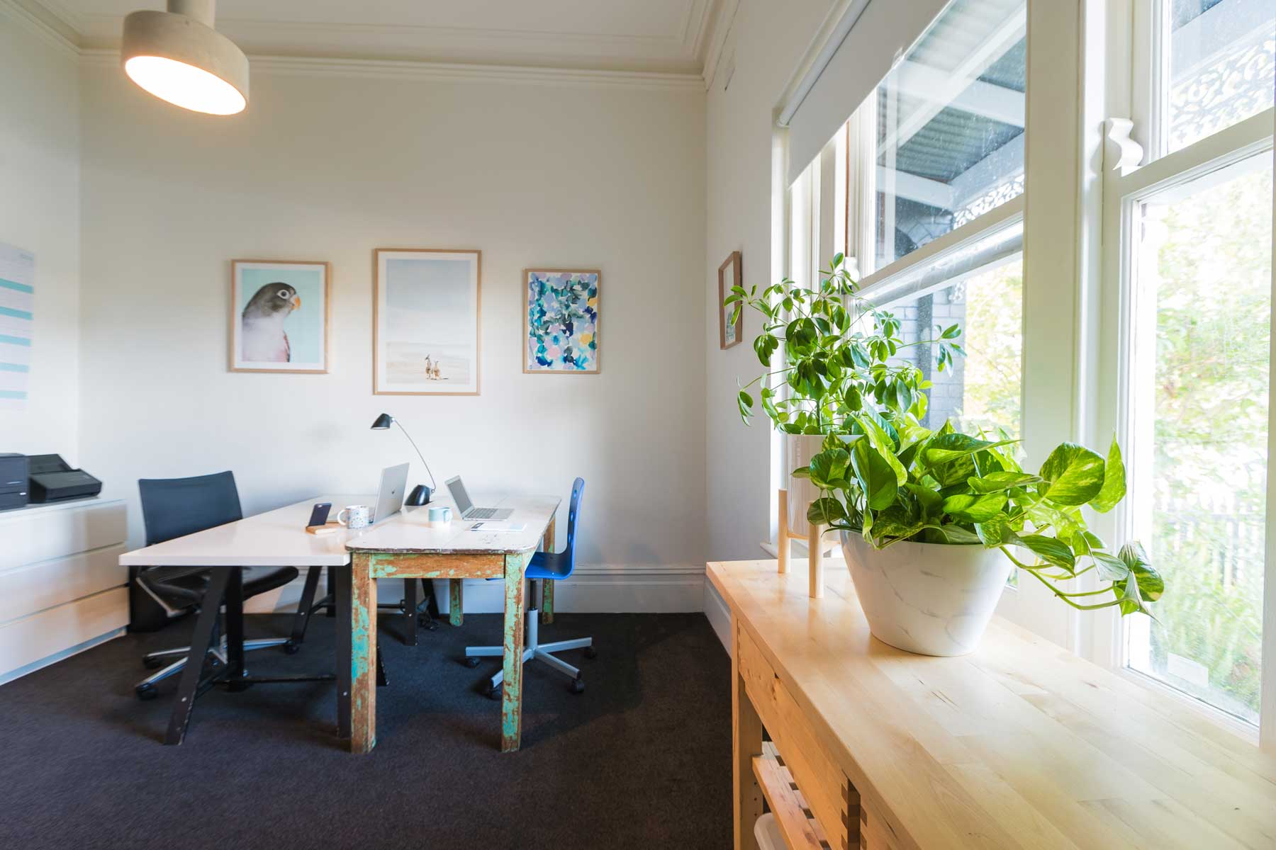 Lauras scandi home office - after - window