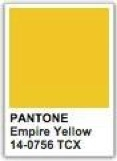 Pantone empire yellow