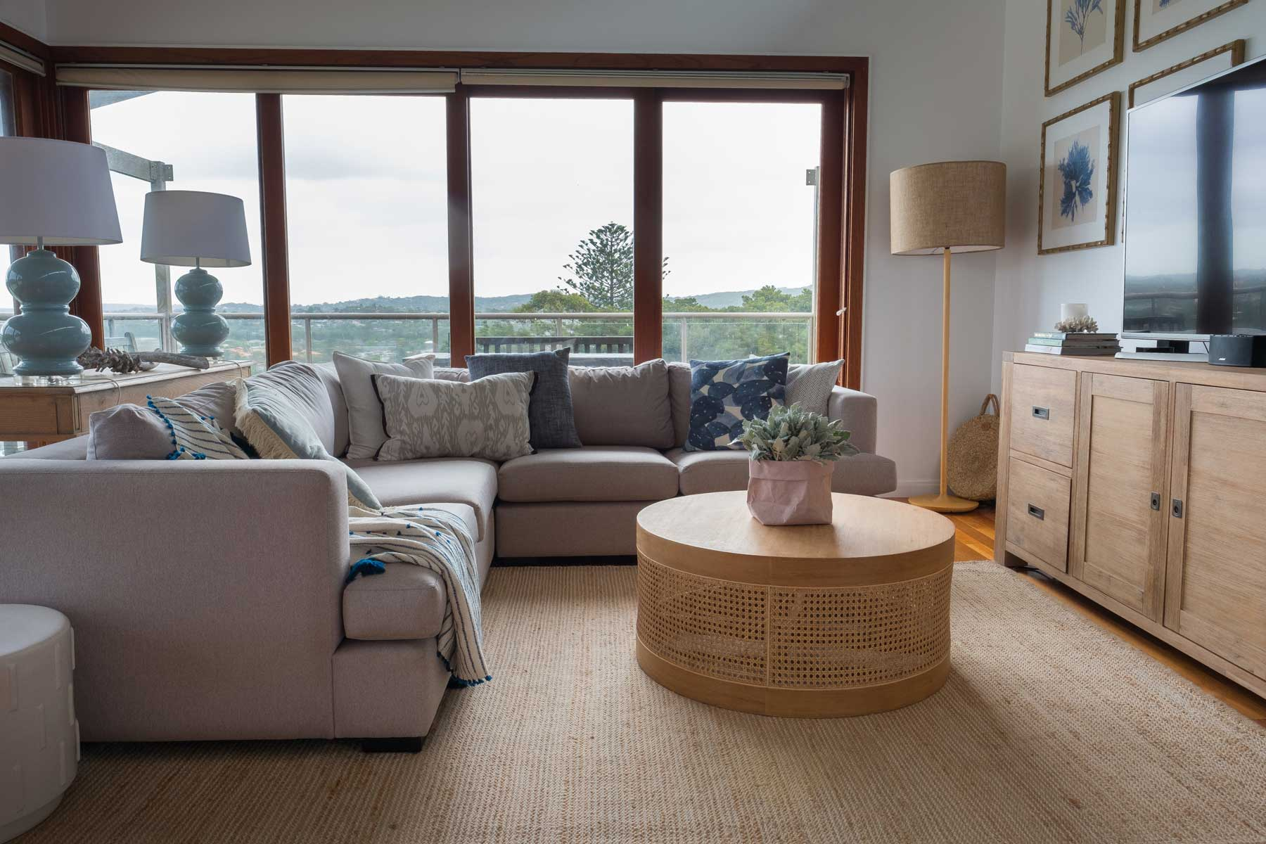 Pippa's Open Plan Coastal Retreat - after - couch