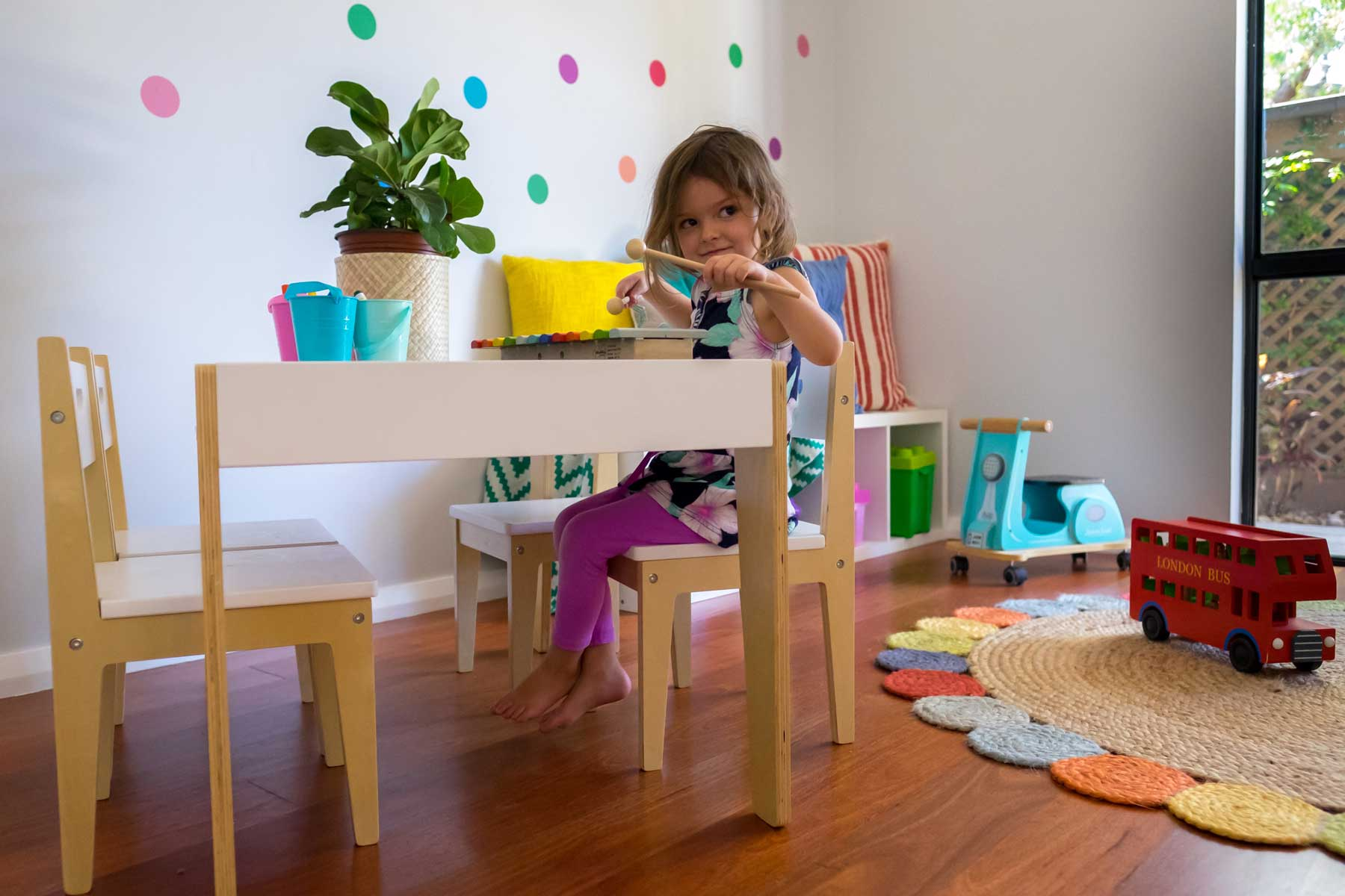 Rebecca's Modern Kid's Playroom - after - child