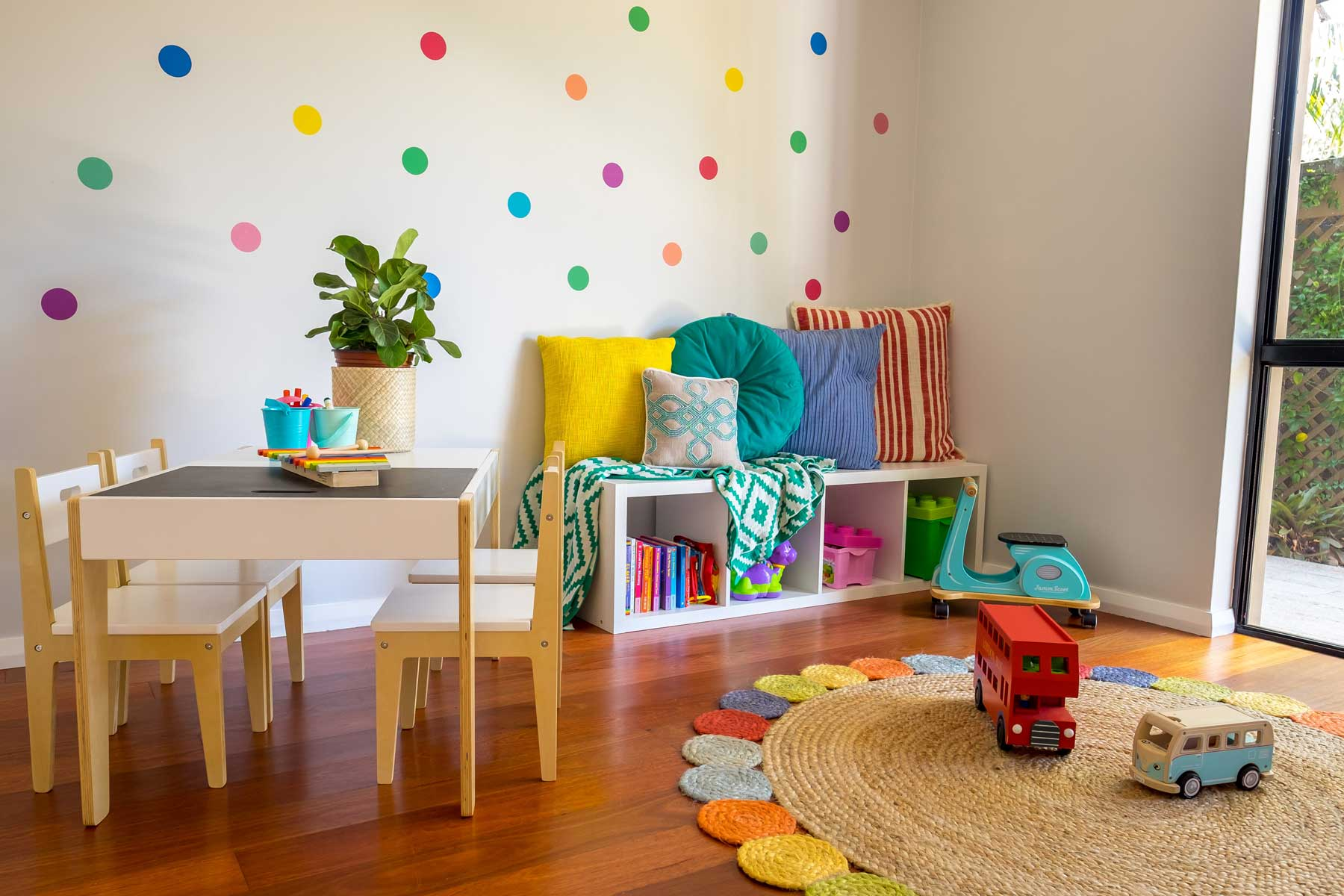 Rebecca's Modern Kid's Playroom - after - cornershot