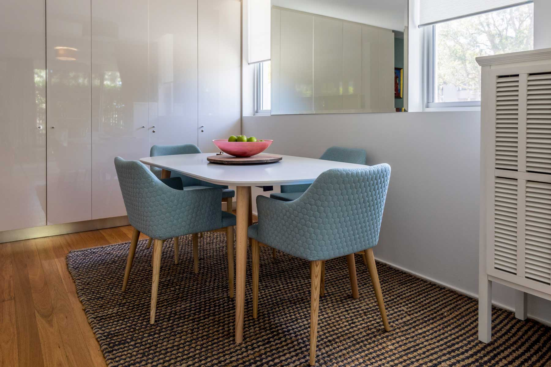 Robyn's vibrant beach apartment - after - dining table 3