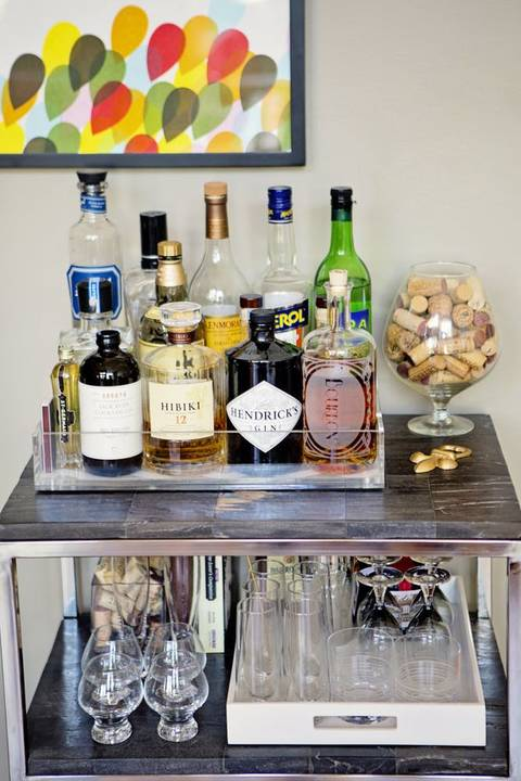 bar cart trays