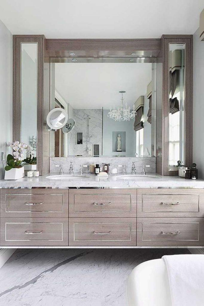 chrome bathroom