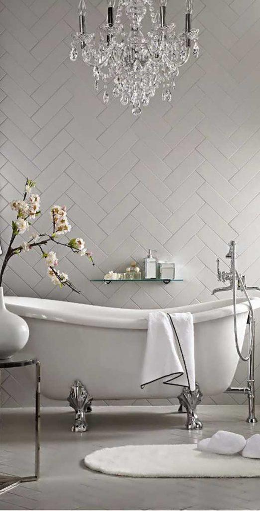 chrome bathroom fitting