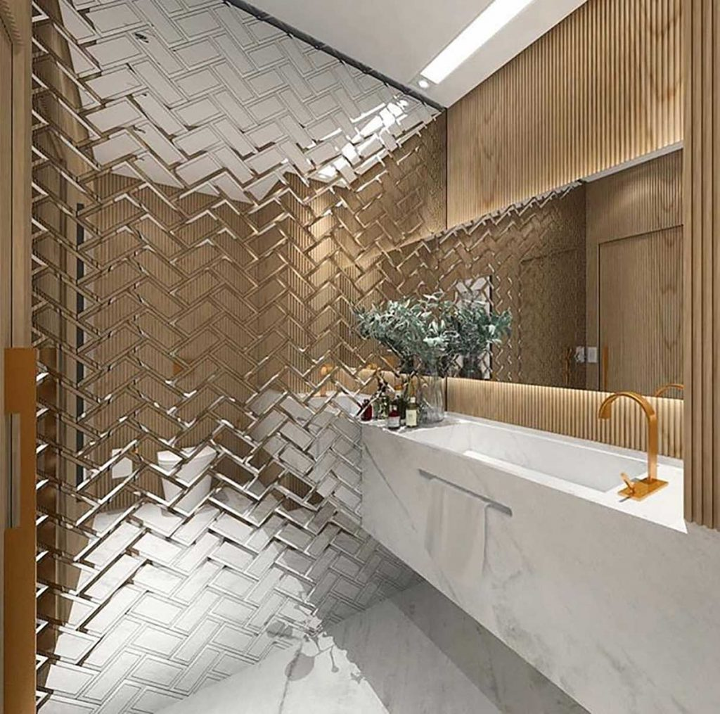 chrome design ideas bathroom tiles