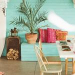 boho coast interior design beach home outdoor area