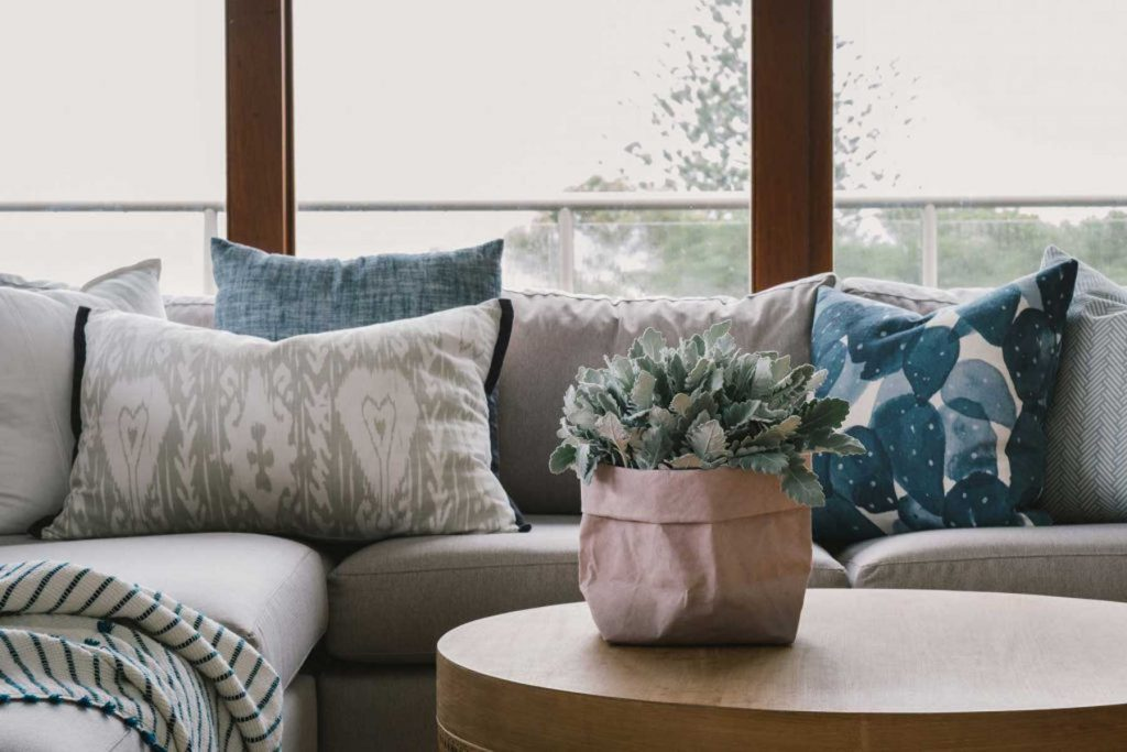 coastal interior design couch