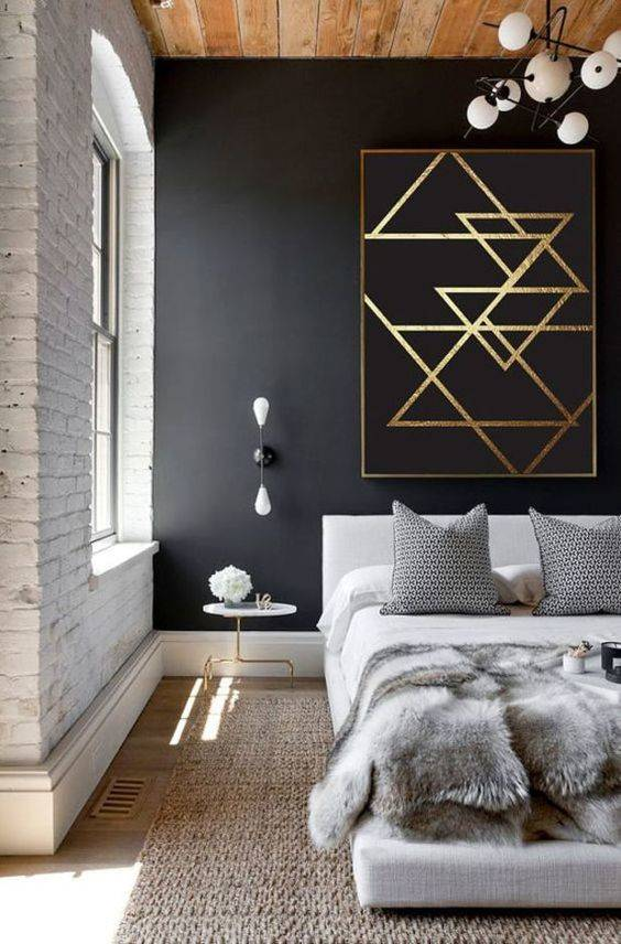 contemporary style luxe master bedroom